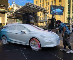 Monk.E a «graffé» une voiture entièrement neuve pour Chevrolet et le résultat est génial