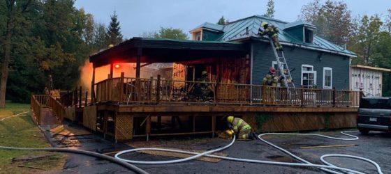 La Chasse-galerie de Lavaltrie est victime d'un incendie après un spectacle de Taktika
