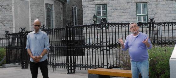 Webster érige une plaque commémorative avec Régis Labeaume au Séminaire de Québec